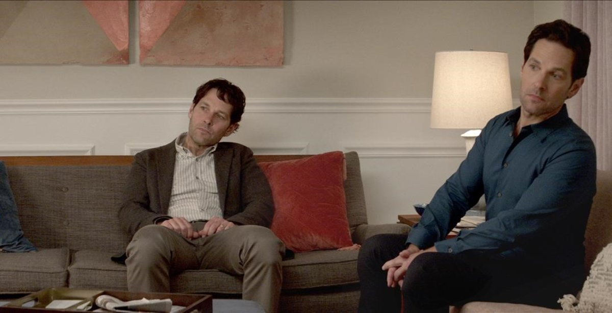 Paul Rudd, en el papel de Miles, el protagonista, y también de su inorportunoclon.