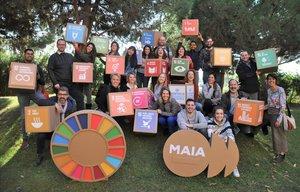 Participantes en un curso de Fundesplai sobre los Objetivos de Desarrollo Sostenible.