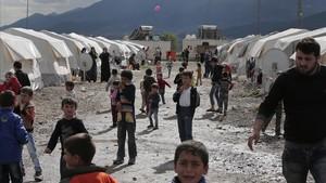 Refugiados sirios en un campamento en Islahniye, en el sureste de Turquía, en el 2016