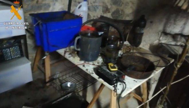 El vídeo de la Guardia Civil que muestra el material hallado a los CDR detenidos