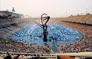 Un momento de la inauguración de los JJOO de Barcelona.