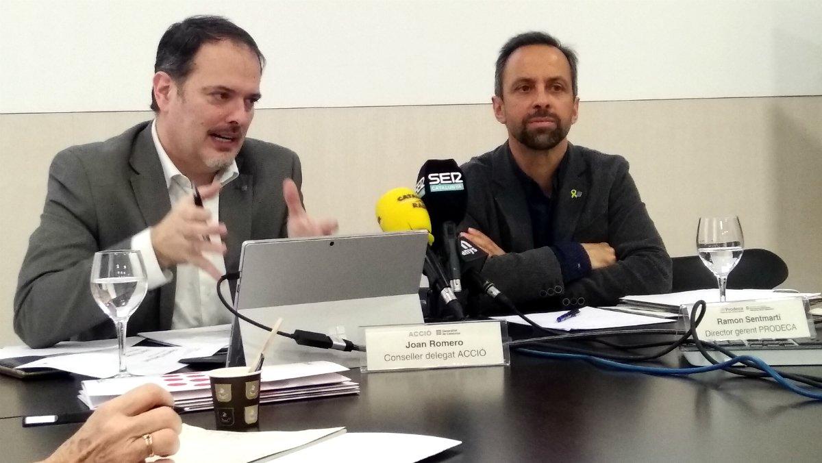 Joan Romero y Ramon Sentmartí.
