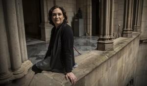 Ada Colau, en el Ayuntamiento de Barcelona.