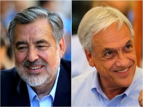 Alejandro Guillier, a la izquierda, y Sebastián Piñera, a la derecha, candidatos a la presidencia de Chile.