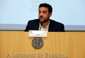 Àlex Pastor, alcalde de Badalona, durante la presentación del nuevo equipo de gobierno