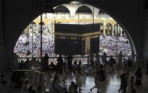 Peregrinación enla Gran Mezquita de La Meca.