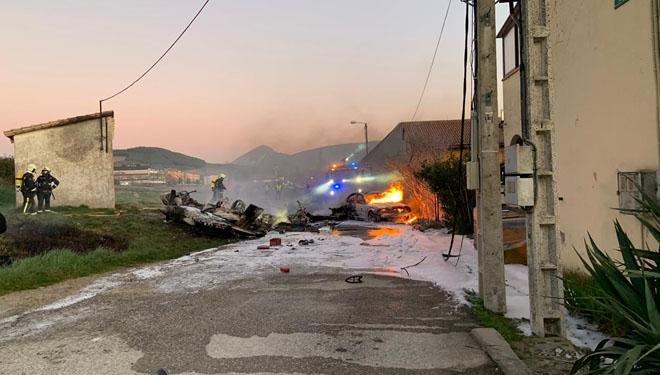 Mor el pilot d'una avioneta que s'ha estavellat a Noain (Navarra)