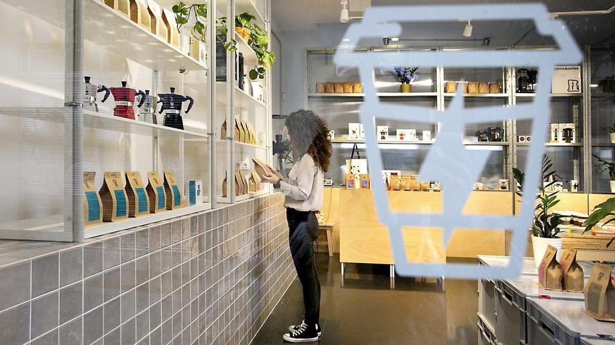 La boutique dedicada al café, en Syra Coffee.