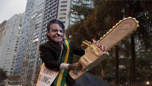 Protestas en Brasil en contra de Jair Bolsonaro.