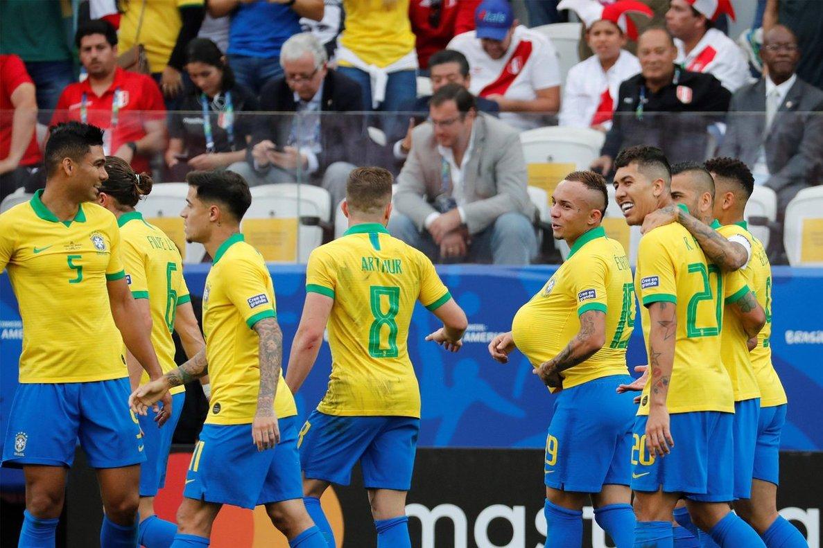 Brasil no recibió gol en la fase de grupos