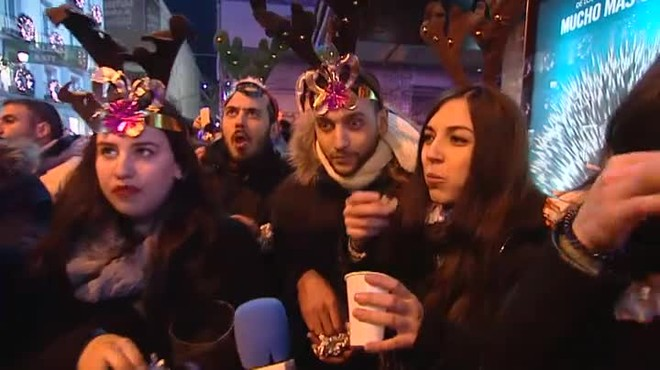 Campanadas de Año Nuevo en Madrid
