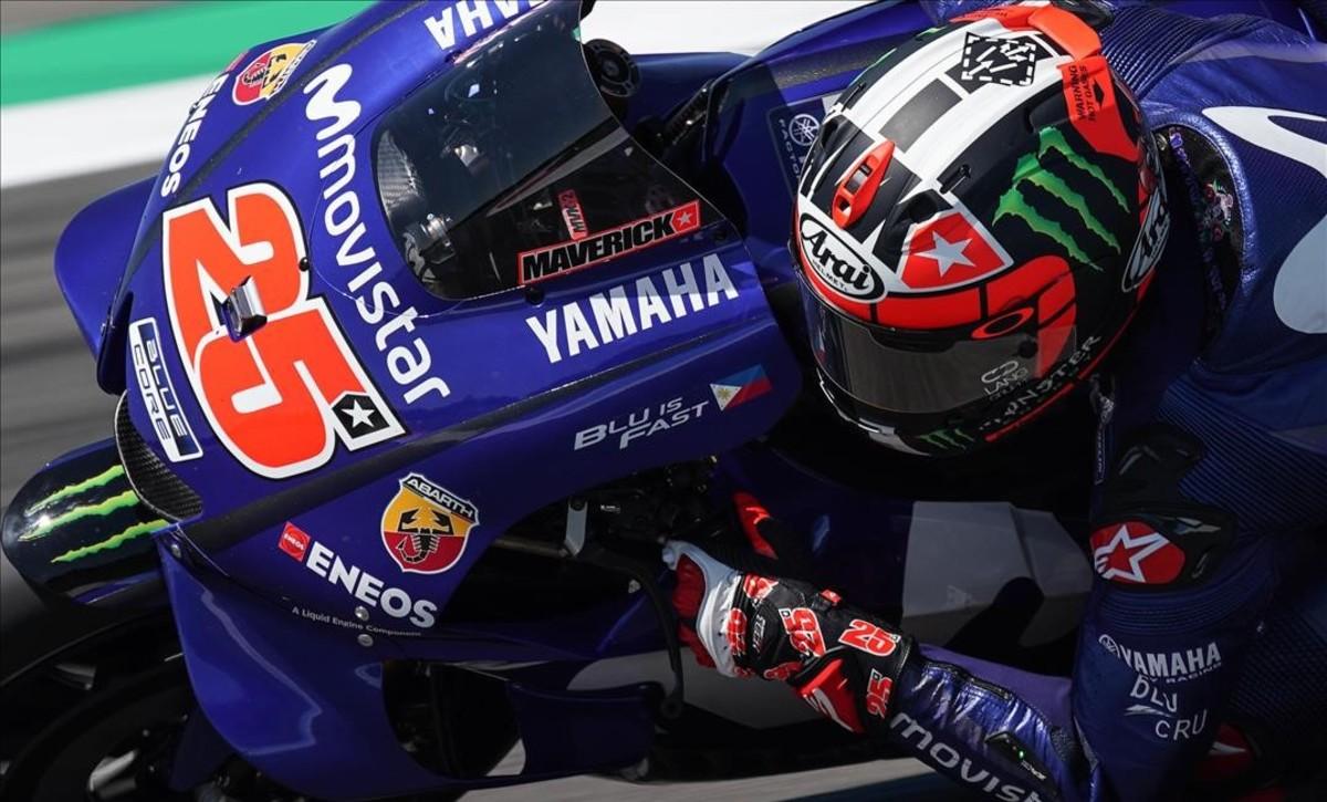 El catalán Maverick Viñales (Yamaha) ha liderado hoy los ensayos de Holanda, cosa que no ocurría desde hacia meses (Aragón-2017).