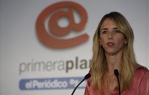 Cayetana Álvarez de Toledo, en su intervención en el foro Primera Plana.