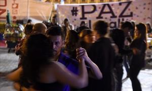 Celebración en Bogotá del acuerdo de paz de Colombia.