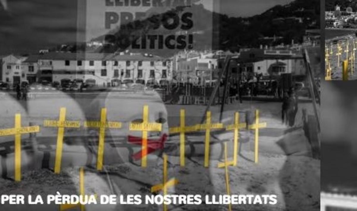 Convocatoria de plantada de cruces amarillas en Mataró.