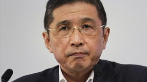 El CEO de Nissan, Hiroto Saikawa, en una rueda de prensa celebrada en julio del 2019