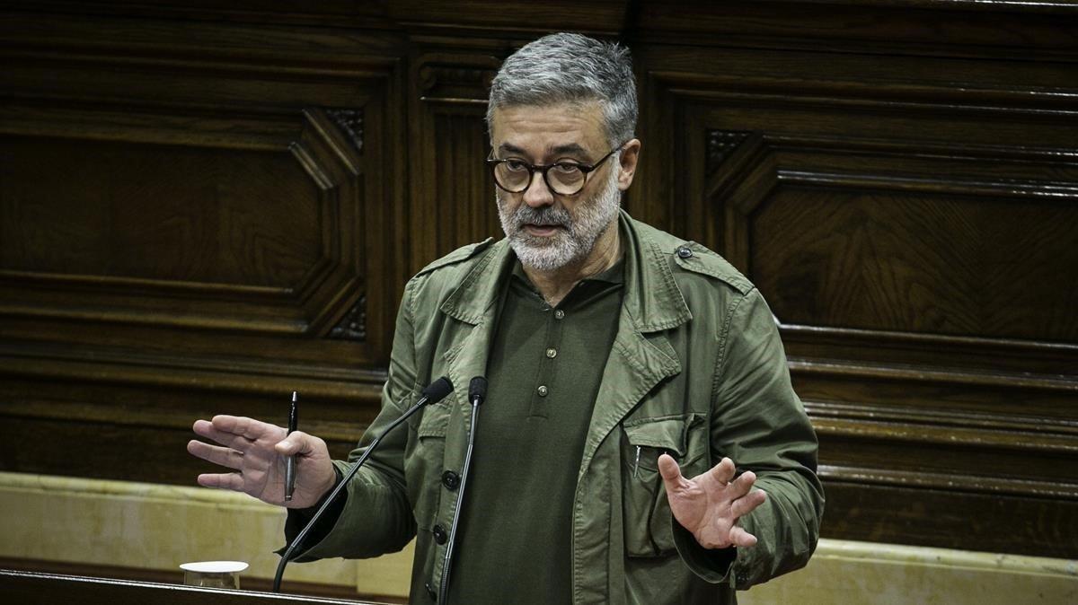 El diputado de la CUP Carles Riera, en el Parlament.
