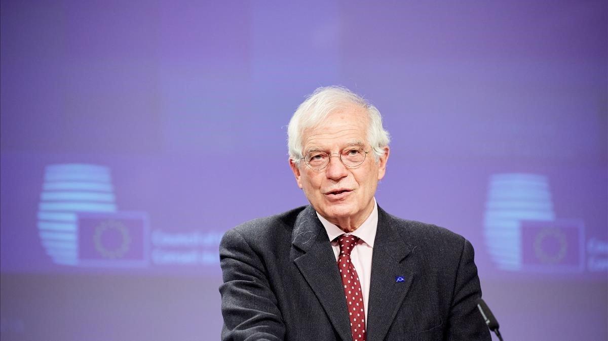 El jefe de la diplomacia europea, Josep Borrell,