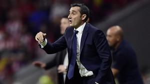 Ernesto Valverde, durante un partido reciente.
