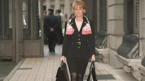 Noviembre de 1997, Esperanza Aguirre, Ministra de Cultura llega al Congreso.