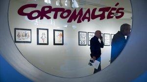 Exposición sobre Corto Maltés en el MNAC, el pasado abril.