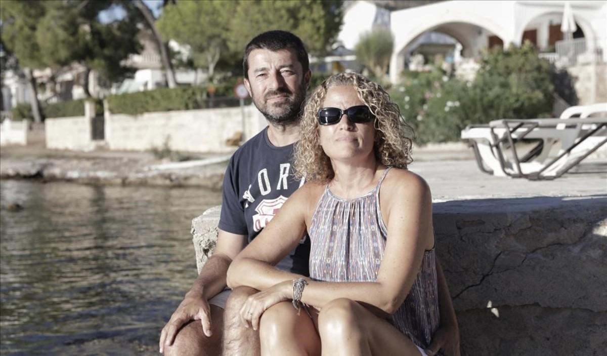Olga Badia y su marido, Simó Bennàssar.