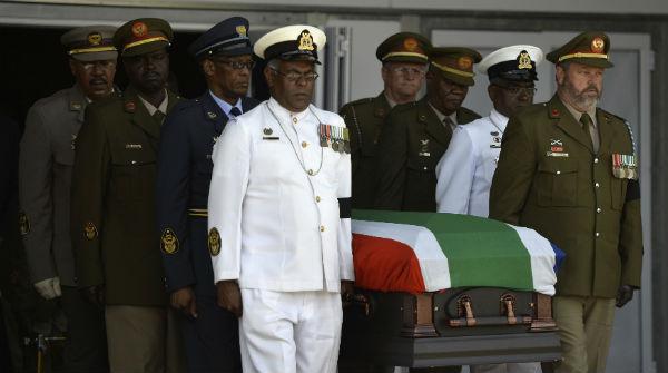 Funeral d'Estat de Nelson Mandela a Qunu, Sud-àfrica, el poble on va passar la infància.