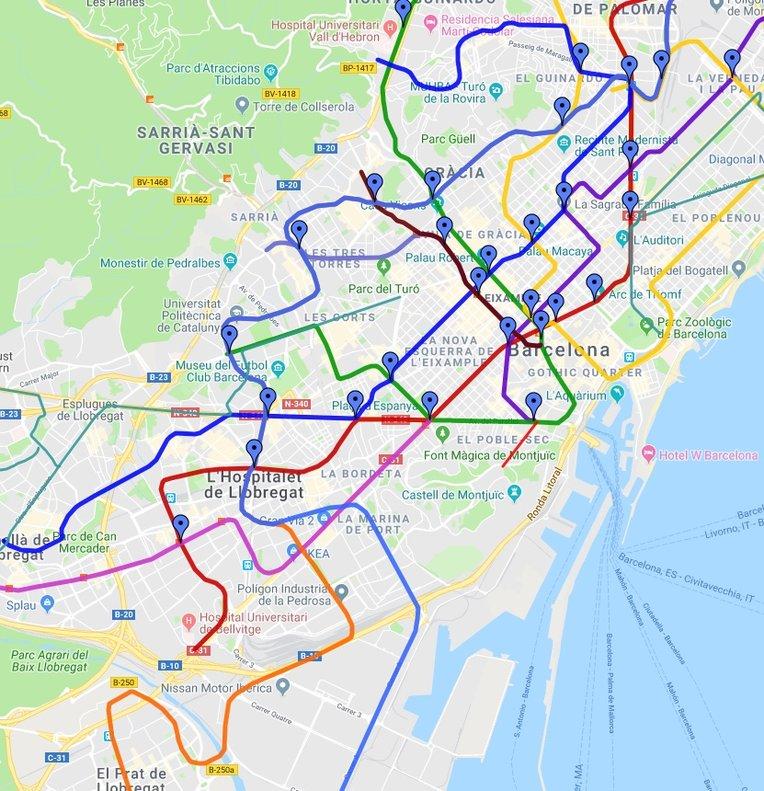 Google Maps ofereix prediccions d'afluència al transport públic
