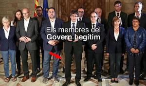 """El """"Govern legítim"""" de Puigdemont s'oblida d'esborrar la cama de Santi Vila"""