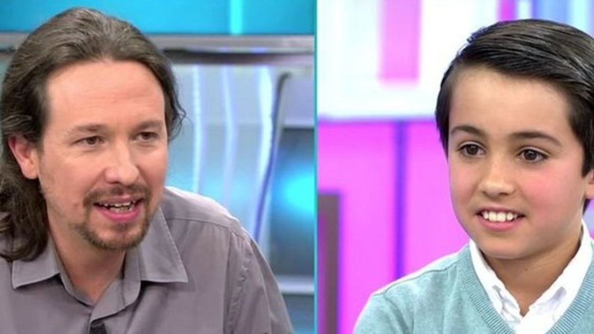 """La incómoda pregunta de un niño de 'AR' a Pablo Iglesias: """"¿Cuánto dinero tienes?"""