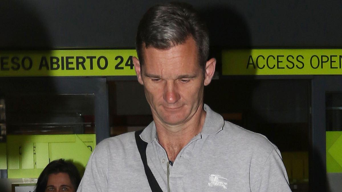 Iñaki Urdangarin a su llegada al aeropuerto de Madrid.