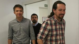 Íñigo Errejón y Pablo Iglesias en una imagen de abril del pasado año.