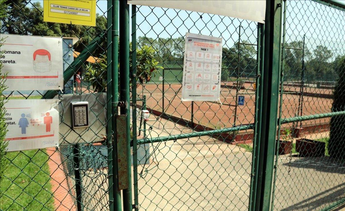 Instalaciones del club de tenis de Cassà de la Selva.