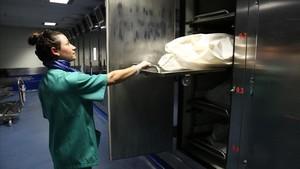 Instalaciones refrigeradas del Instituto de Medicina Legal yCiencias Forenses de Catalunya.
