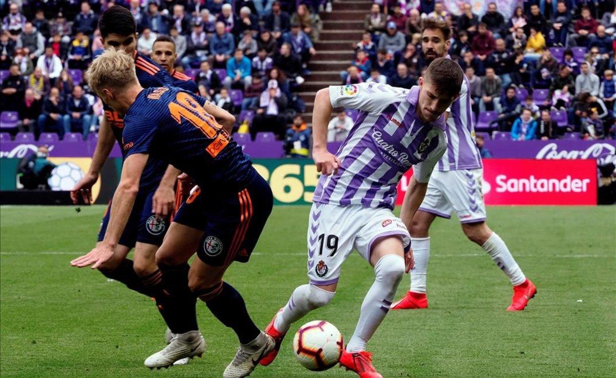 Imagen del partido Valladolid-Valencia del 18 de mayo del 2019