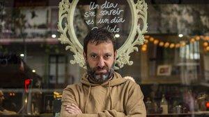 Jaume Pla, alias Mazoni, fotografiado en Barcelona