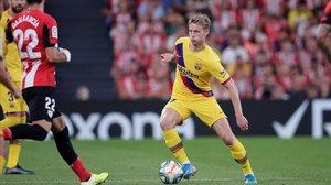 Athletic-Barça: El toc al centre del camp