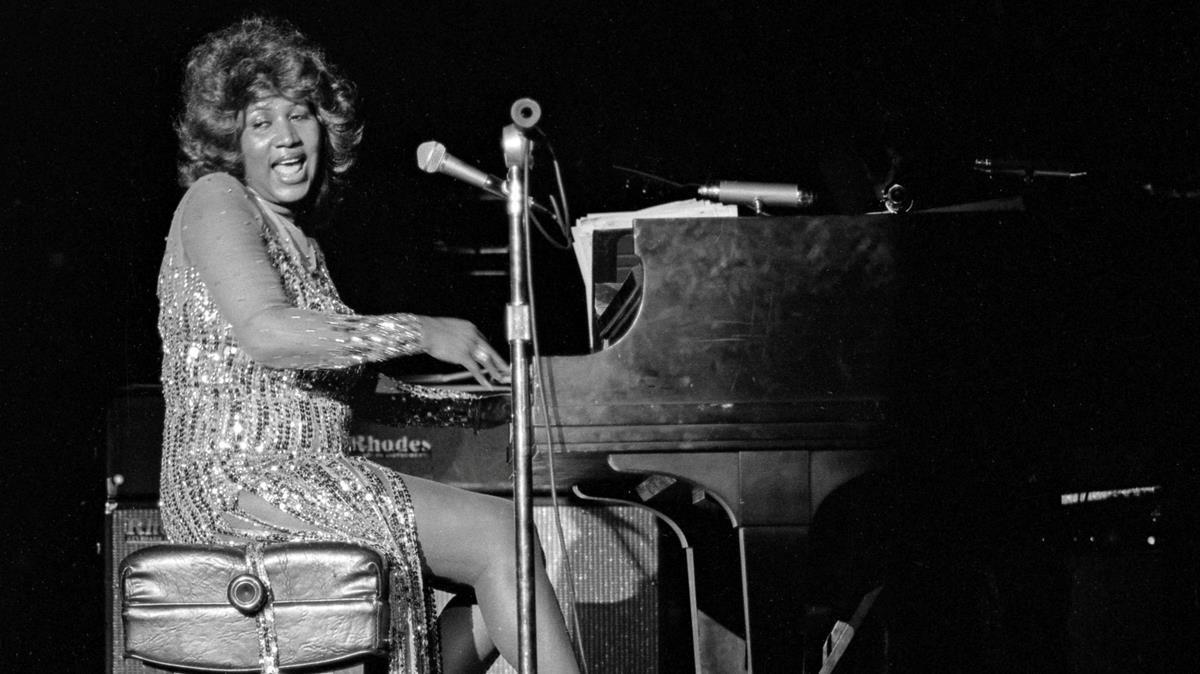 Aretha Franklin, en 1978, en un show en Las Vegas.