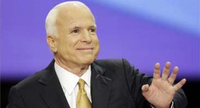 John McCain, durante su discurso de aceptación de la candidatura republicana a la presidencia de EEUU.