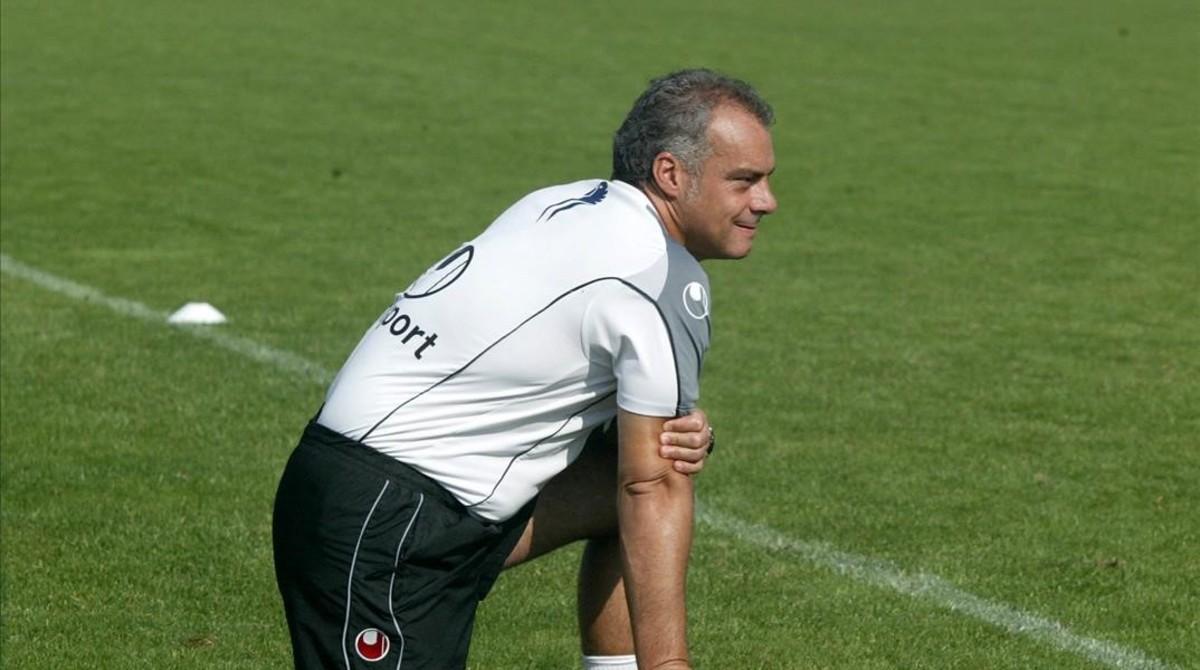 Jon Aspiazu, el segundo entrenador de Valverde.