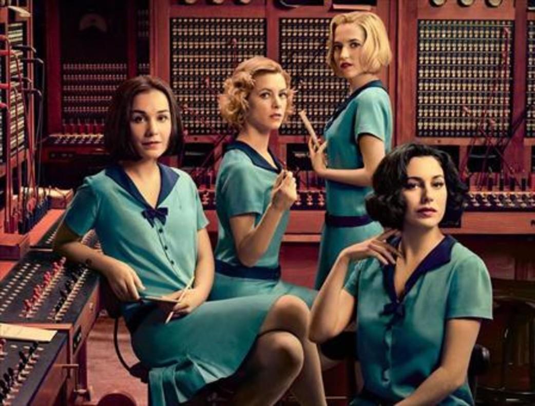 Las protagonistas de la serie de Netflix 'Las chicas del cable'. Maggie Civantos, Blanca Suárez, Ana Fernández y Nadia de Santiago.