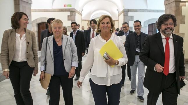 Los miembros de Demòcrates de Catalunya Assumpció Laïlla, Elena Ribera, Núria de Gispert y Antoni Castellà.