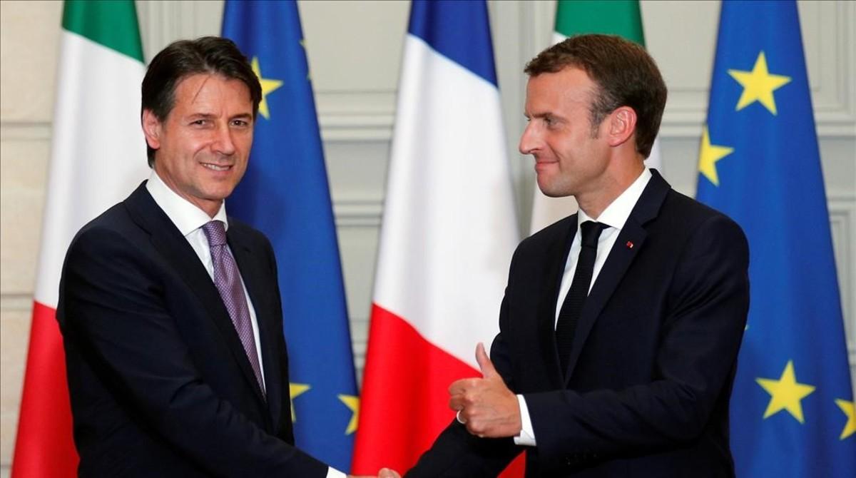 Macron y Conte piden una reforma en profundidad para responder a inmigración.