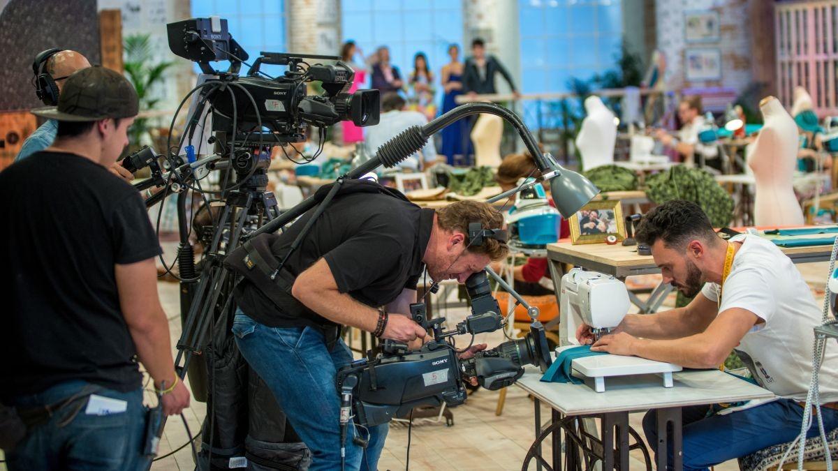 Grabación del primer programa de TVE Maestros de la costura.