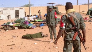 Restos de un atentado suicida en el norte de Mali el pasado mes de enero.