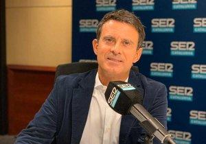 Manuel Valls, durante la entrevista en el programa 'Aquí, amb Josep Cuní'.
