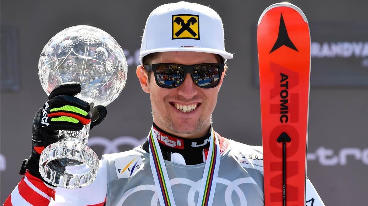 Marcel Hirscher, campeón en gigante.