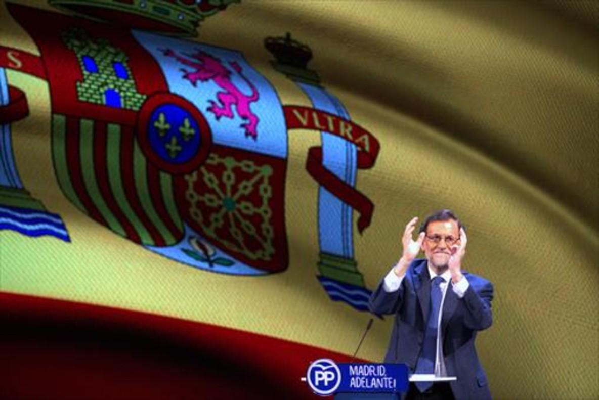 Mariano Rajoy en el congreso regional del PP de Madrid.