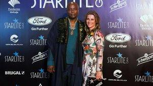 Marta Luisa de Noruega y Shaman Durek, en la gala Starlite.