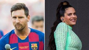 Messi y Rosalía.